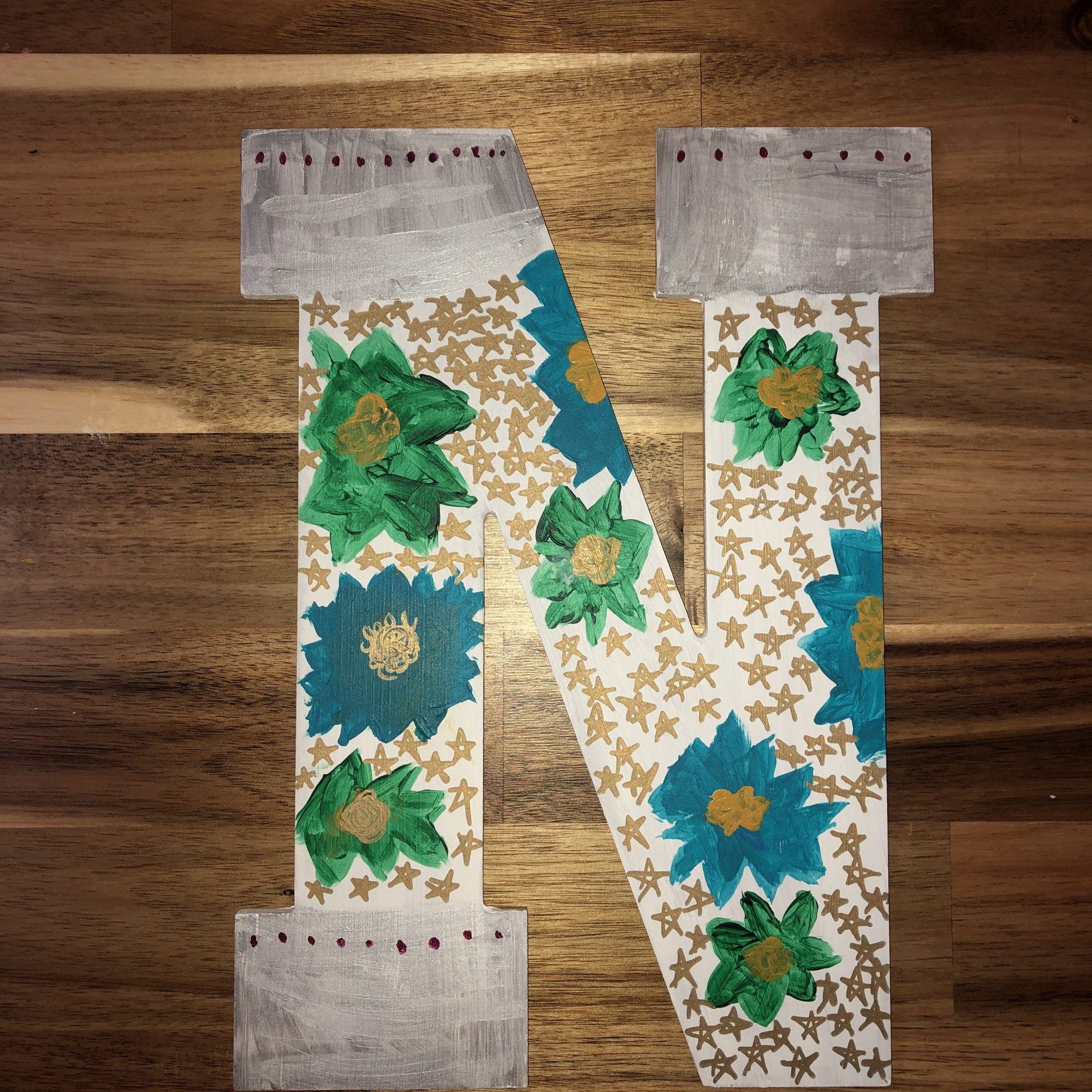 N Painted Letter