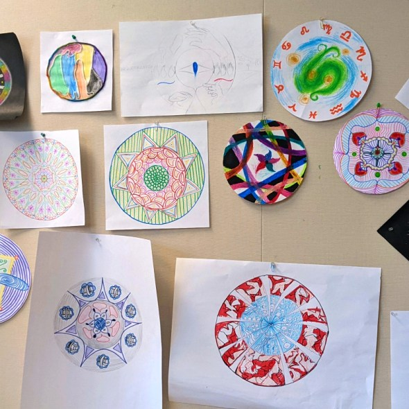 Mandala Experiential by Approaches in Art Therapy Class