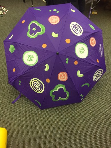 vegetable pattern purple umbrella