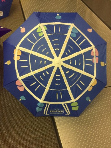 ferris wheel painted umbrella