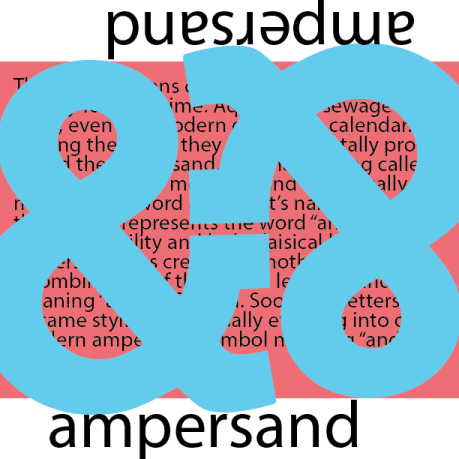 ampersand, graphic design, poster, visual
