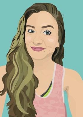 graphic, portrait, selfie, design, color