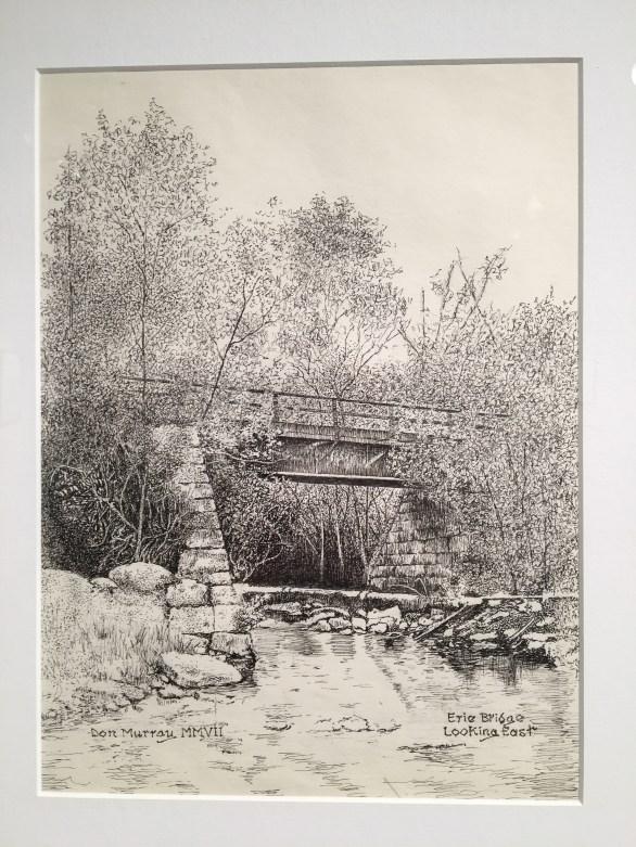bridge ink drawing