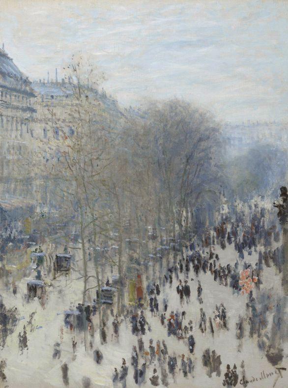 Boulevard des Capucines, by Monet