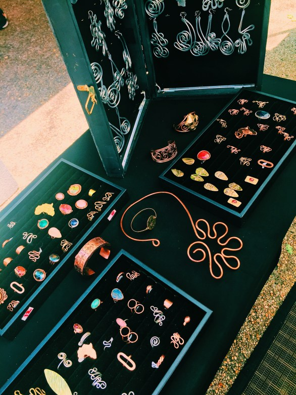assorted copper colored jewelry