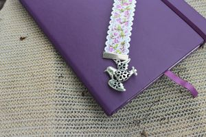 bird ribbon bookmark with journal