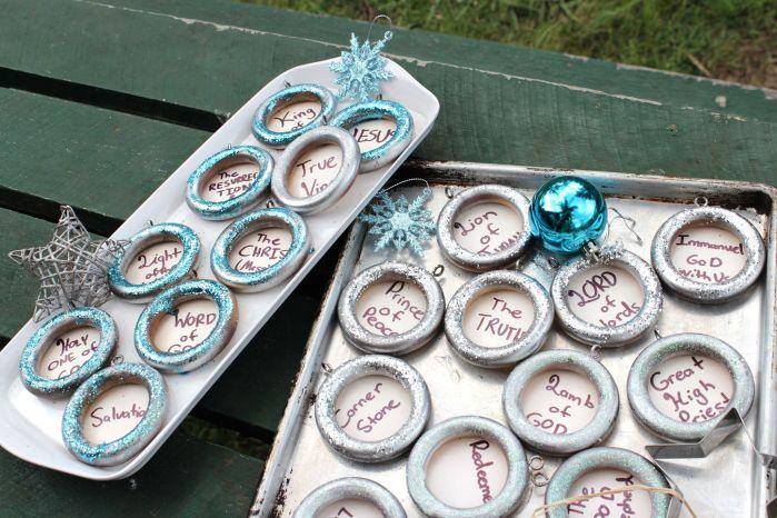 advent decoration trays