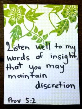 Proverbs Scripture Art - Discretion. Proverbs Word Study