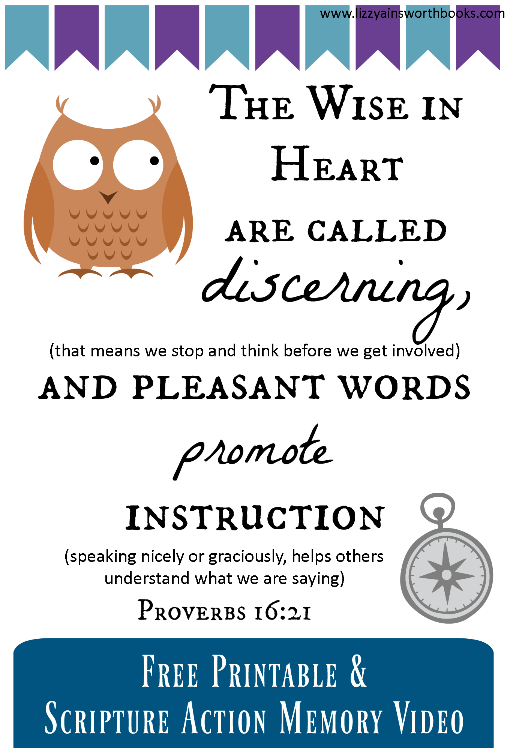 Proverbs Scripture Memory for Kids + Printable