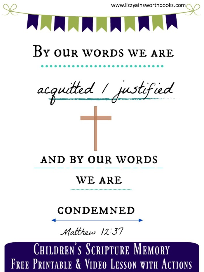By our Words - Scripture Memory Printable