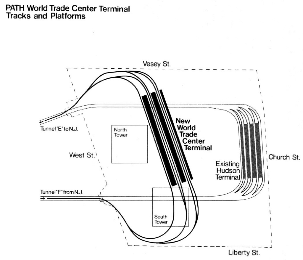 hight resolution of detail of the path wtc terminal and tracks source