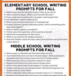 20 Fall Writing Prompts for Kids Elementary and Middle School Journals [ 1500 x 1000 Pixel ]