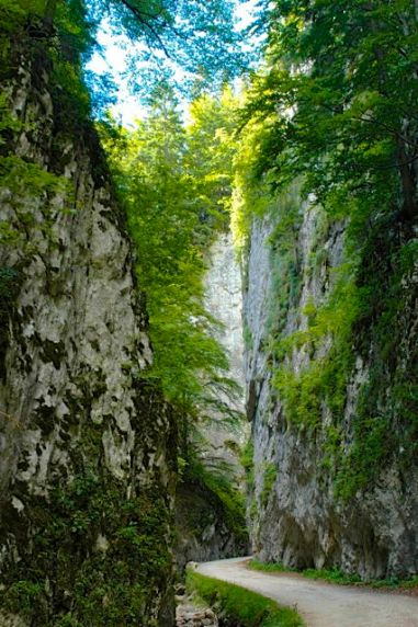 The gorges below the village