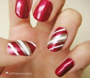 nails candy cane