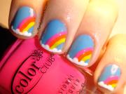rainbow nail art evil thoughts