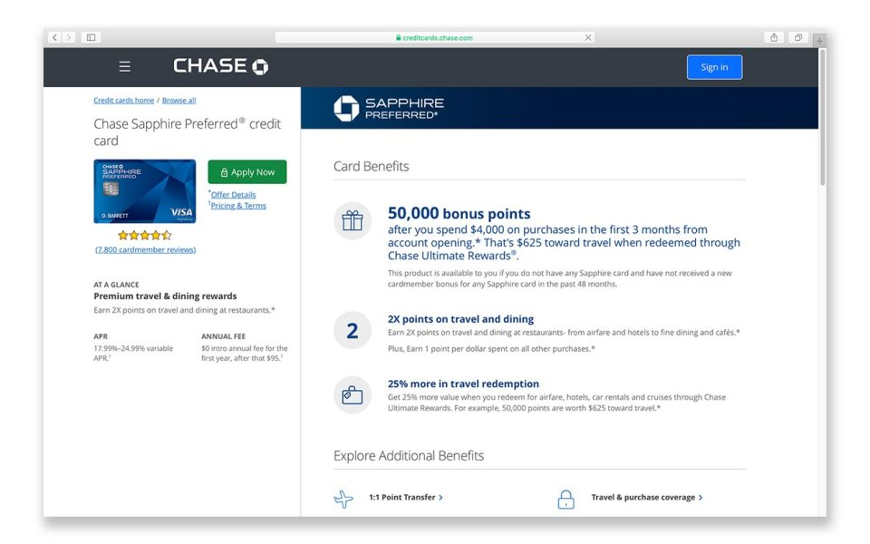 Use Chase Sapphire Preferred Credit Card for traveling on a budget while abroad
