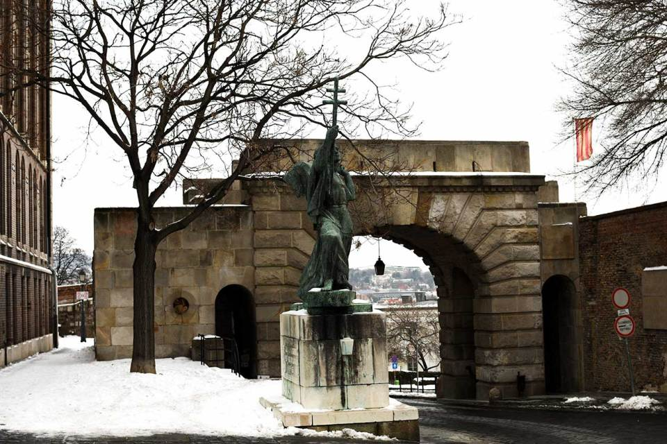 Walk through Budapest's Vienna Gate before heading to Matthias Church