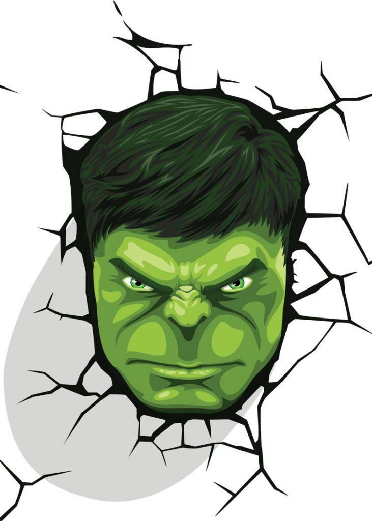 Hulk Face Drawing : drawing, VECTOR, WHERE