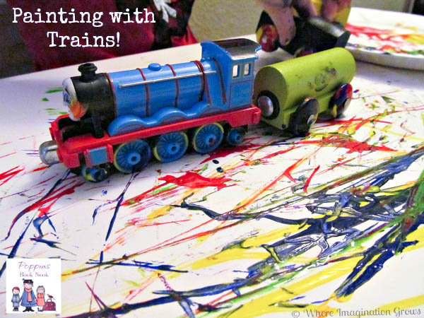 Painting With Trains Simple Process Art For Kids Where Imagination Grows