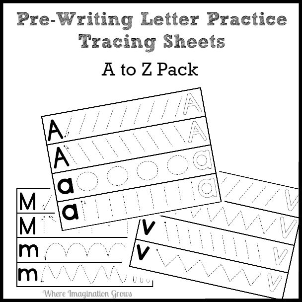 Prewriting Letter Practice Pack A To Z (paypal)  Where Imagination Grows