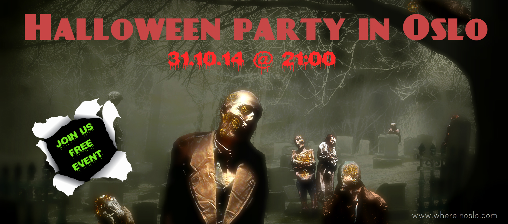 Halloween party in Oslo 2014