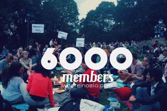 Where in Oslo 6000 members
