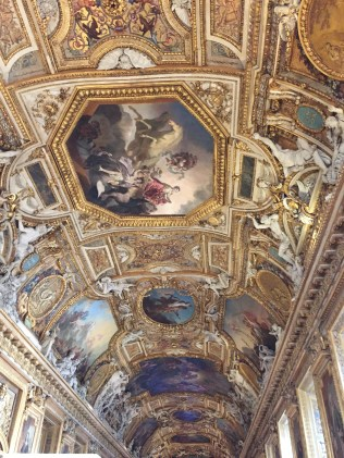 I almost cried at this ceiling inside The Louvre - it was almost like going to Versailles, which of course, we didn't.
