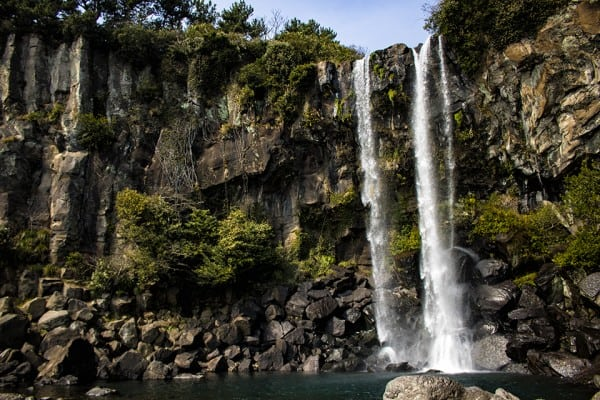 Jeongbang Waterfalls Things To Do In Jeju road trip