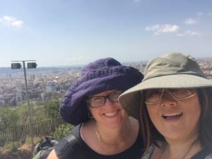 Susan and I trek up to Park Guell as part of our Gaudi extravangza