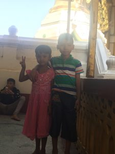 These cuties were at The Golden Temple and their family invited me to sit with them and wanted to take my picture.