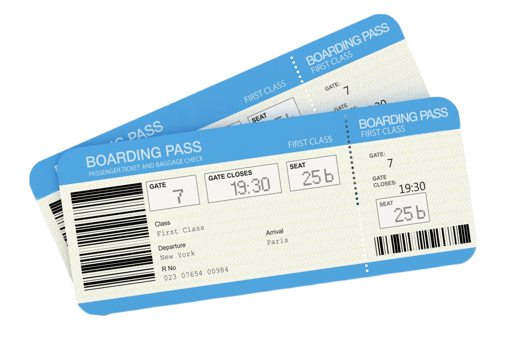 airplane boarding passes