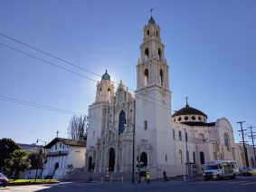 Mission Dolores. The oldest building in SF is the small one on the left, the original Mission Dolores (1776)