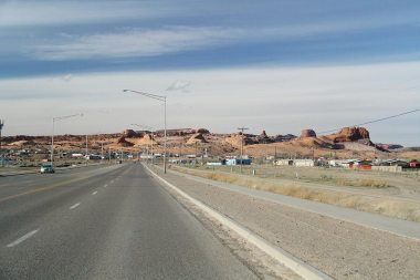 Driving in Navajo land