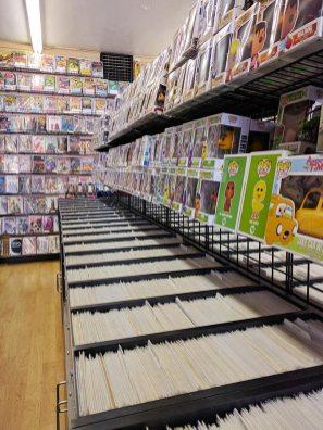 A comic book store in Nob Hill
