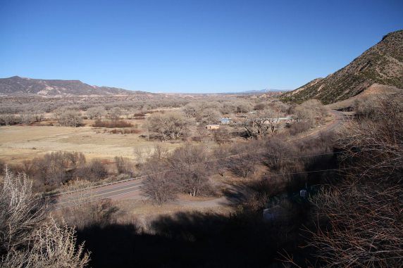 View from Georgia O'Keeffe's house, Abiquiú village