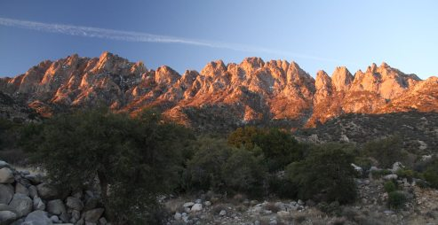 Organ mountains from Aguirre campground