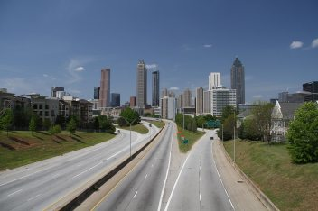 The famous view from the Walking Dead TV show