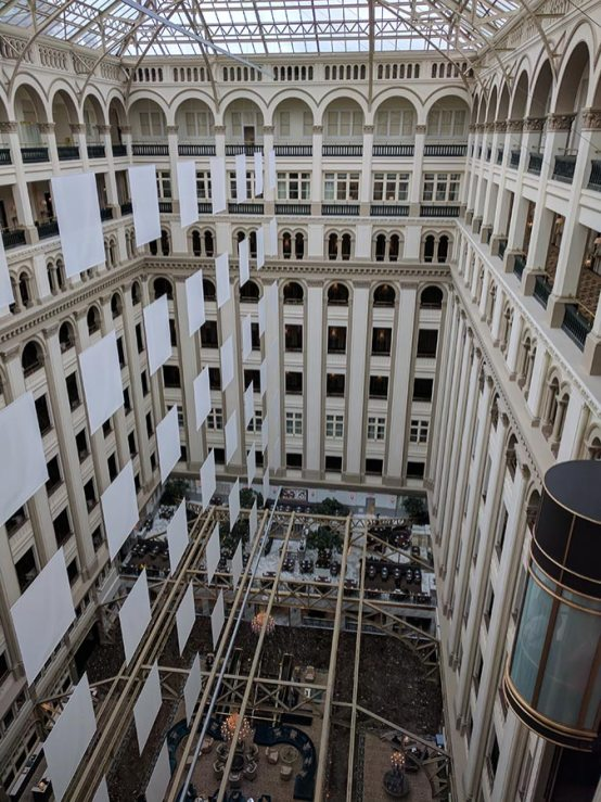 Inside the old post office, now a Trump hotel