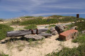 Marconi beach, the remains of the wireless station