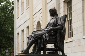 John Harvard, he's not the founder but the first contributor (but not really, no one knew what he looked like)