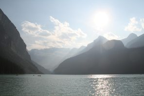 Lake Louise in the evening