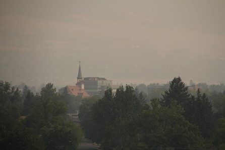 Missoula in Montana, the state is still covered in smoke
