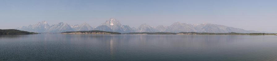 The Teton range (distorted by the panorama)