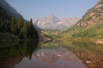 Maroon Lake and the Maroon Bells