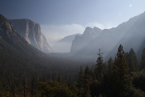 El Capitan on the left