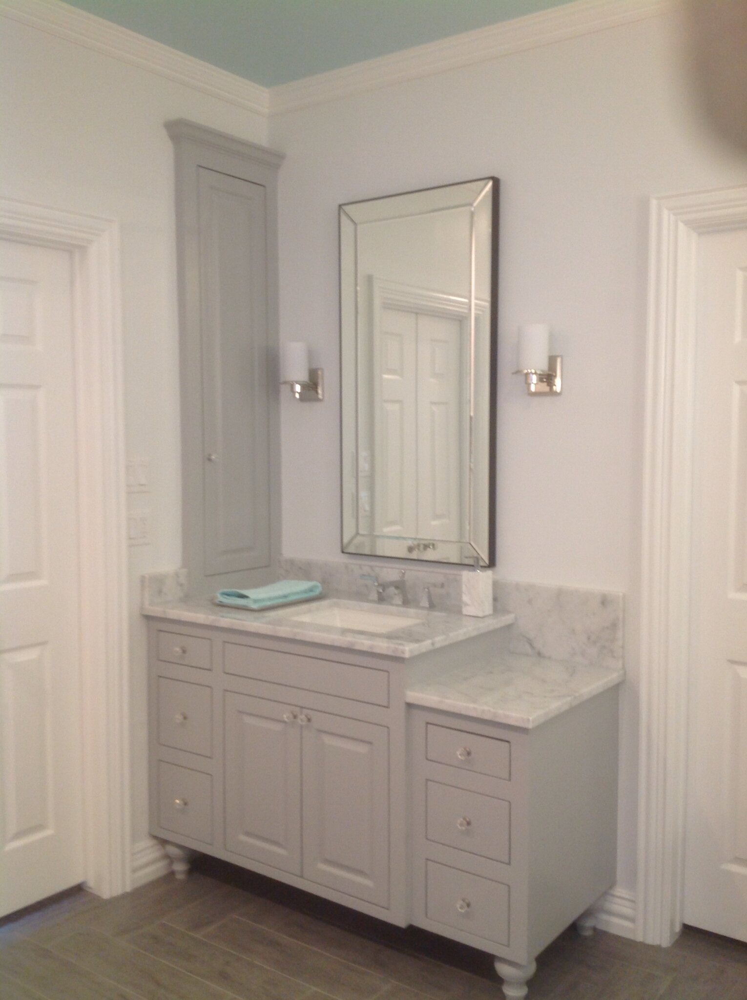 vanity chair pottery barn how much does it cost to reupholster a bathroom for cabinet design