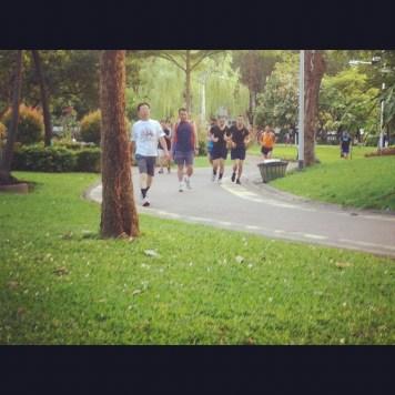 jogging w parku