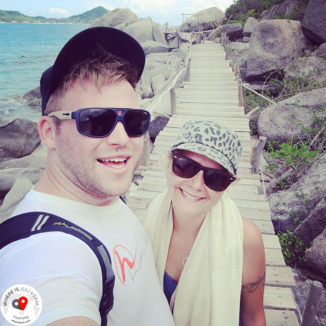 Julia i Sam na Koh Tao
