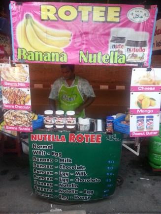 Rotee Banana Nutella stand