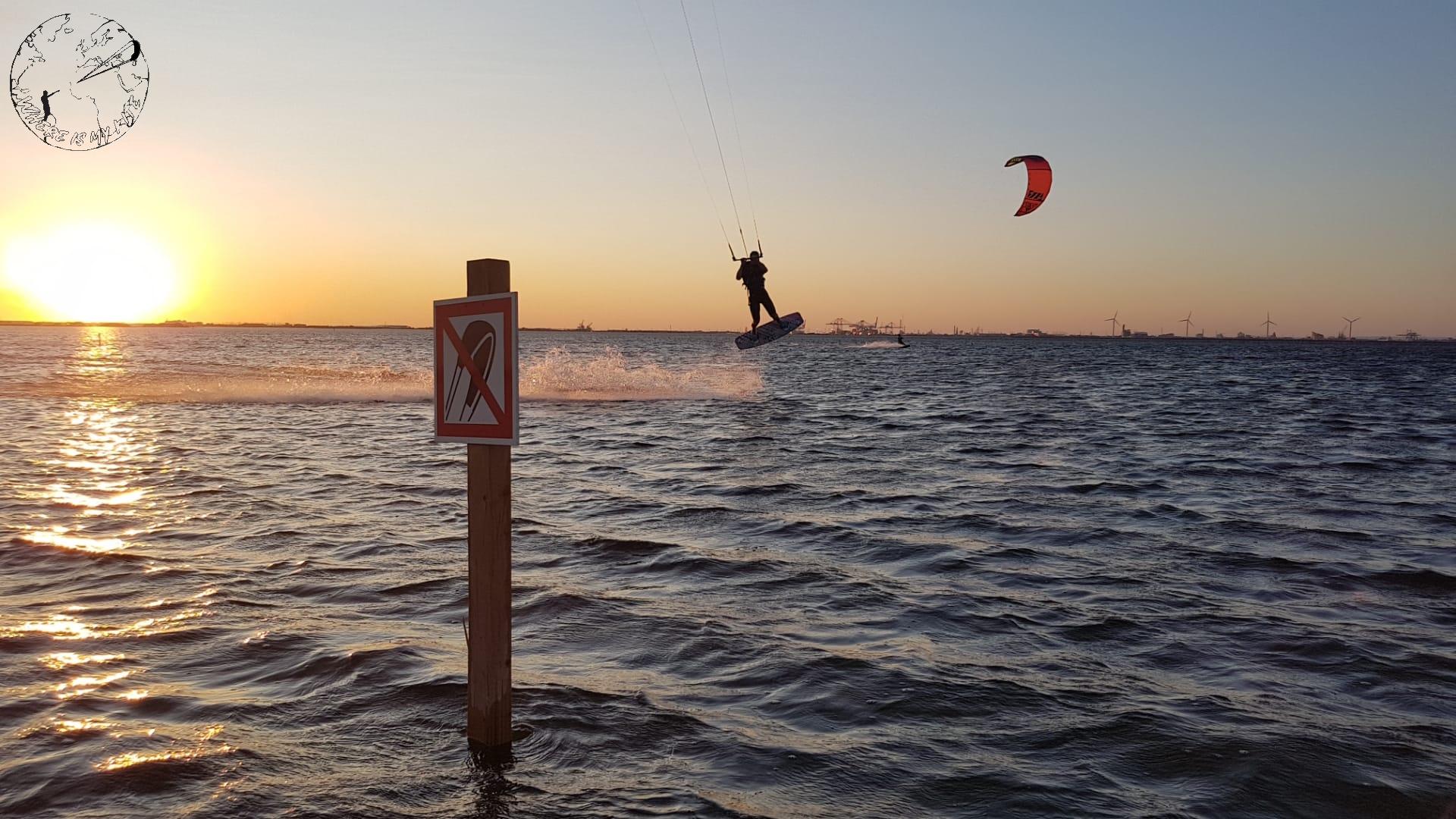 La Graçieuse au sunset, spot de kitesurf en France